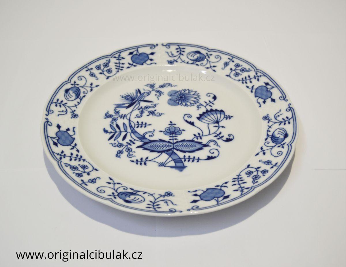 cibulák mísa mělká Natalie Thun 31 cm 1 ks ( talíř klubový ) cibulákový porcelán Nová Role