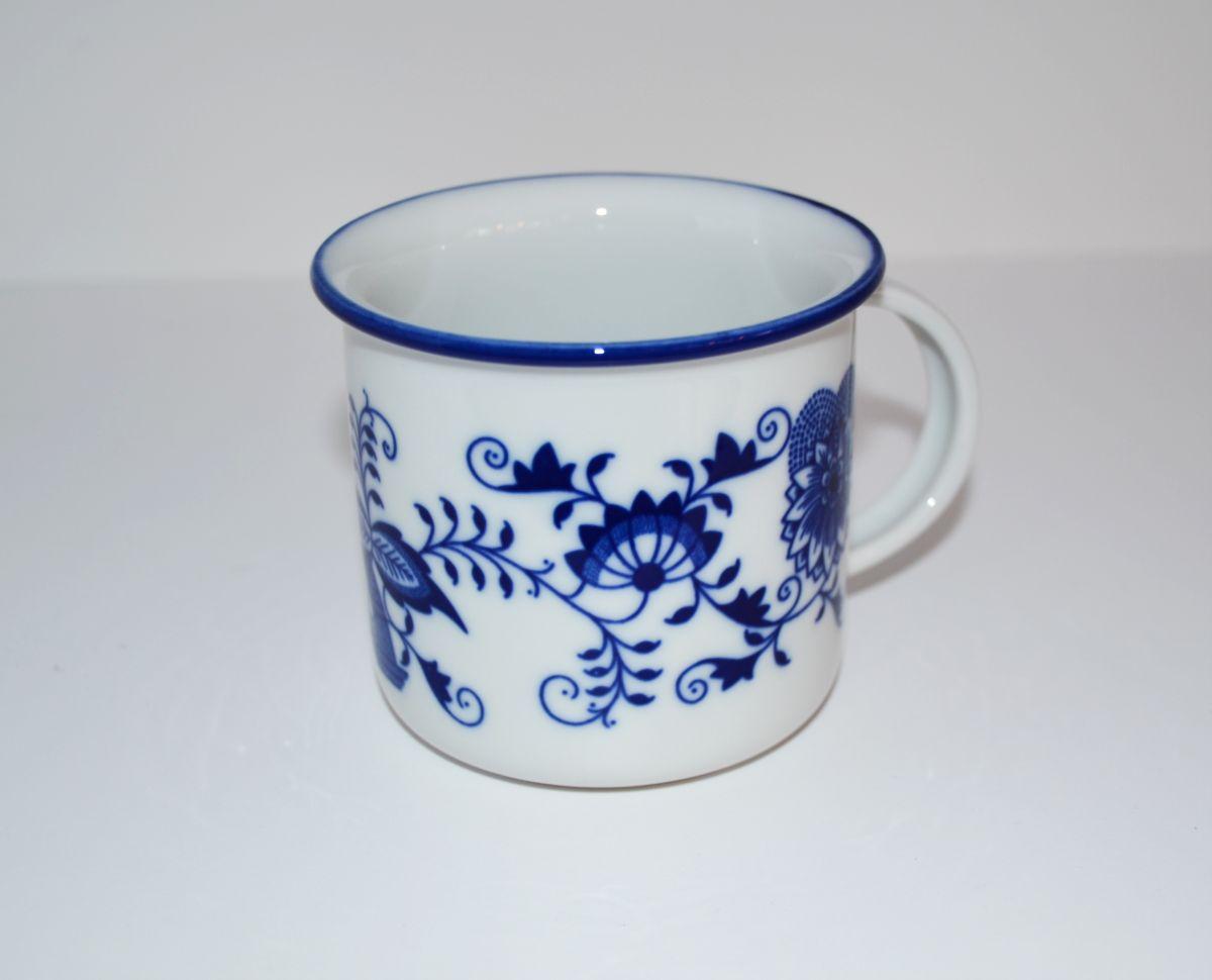 Cibulák hrnek Tina 0,25 l, originální cibulákový porcelán Dubí, cibulový vzor,