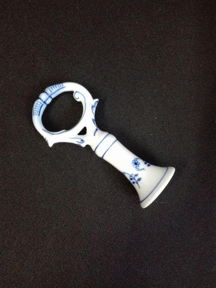 Cibulák klíč originální cibulákový porcelán Dubí, cibulový vzor,