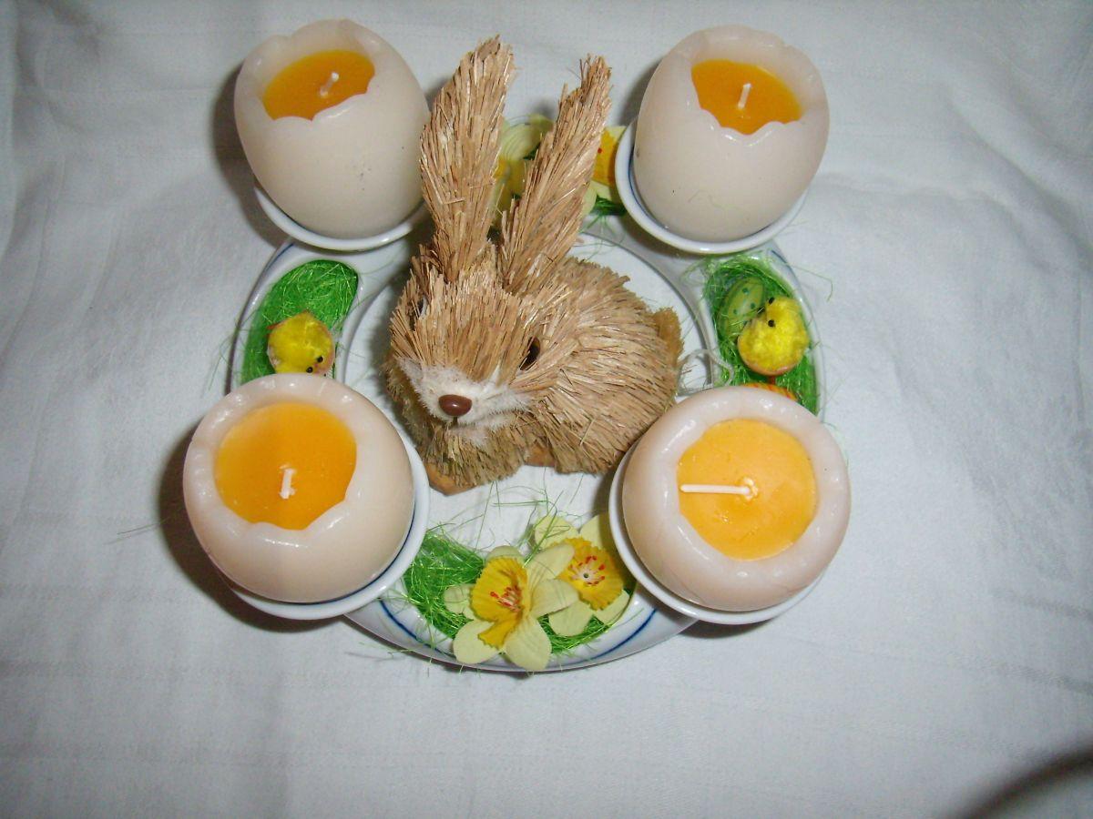 Svícen adventní cibulák 4 svíčky cibulový porcelán Dubí