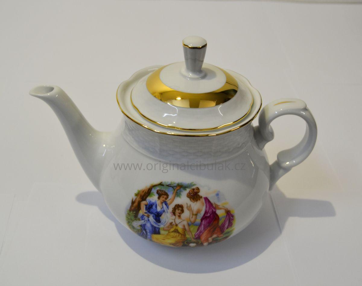 Tři Grácie čajová souprava Natalie Thun 6 osob 15 dílů porcelán Nová Role