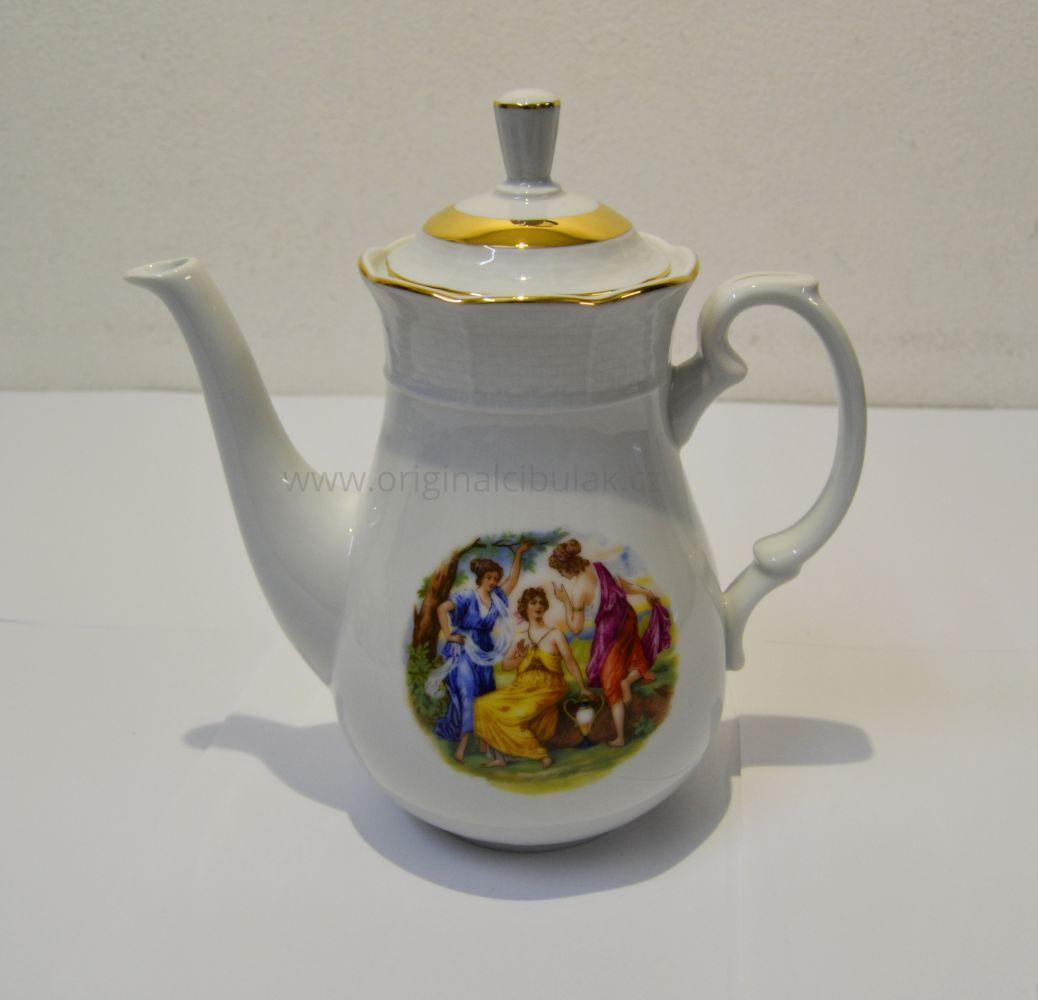 Tři Grácie kávová souprava Natalie Thun 6 osob 15 dílů porcelán Nová Role