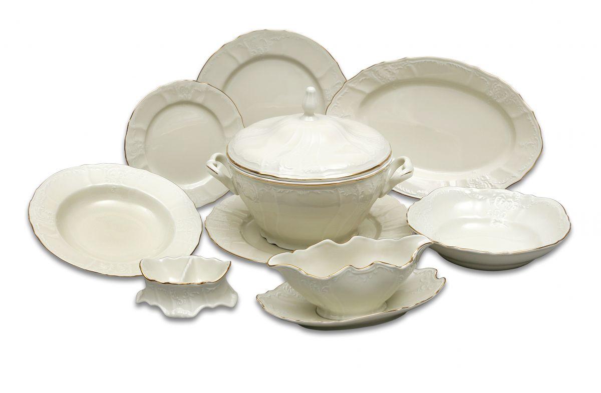 jídelní souprava kytky barevné Thun Bernadotte 6 osob 25 dílů český porcelán Nová Role