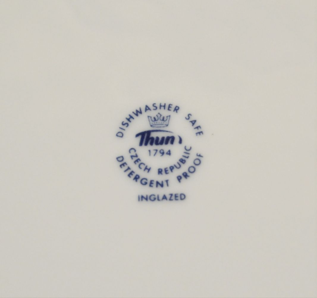 mísa zapékací čtverec 26 cm cibulák Henriette henrieta Saphyr Thun 1 ks cibulákový porcelán Nová Role