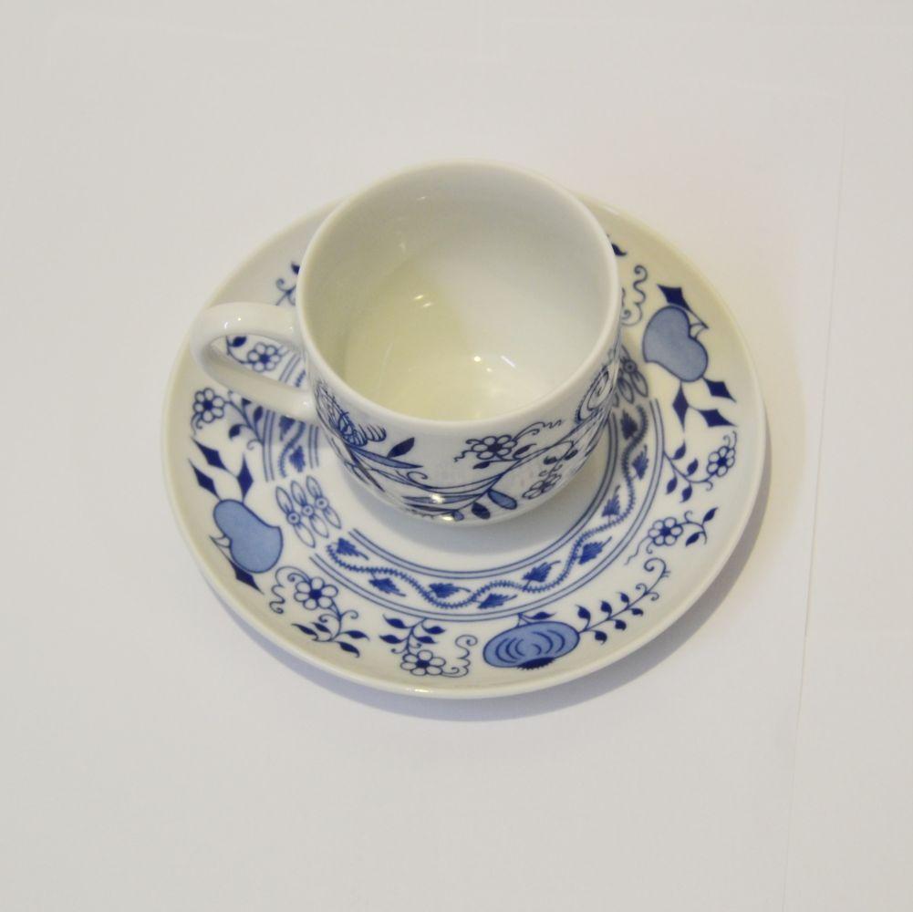cibulák Henriette šálek a podšálek 135 kávový henrieta Saphyr Thun 1 ks cibulákový porcelán Nová Role