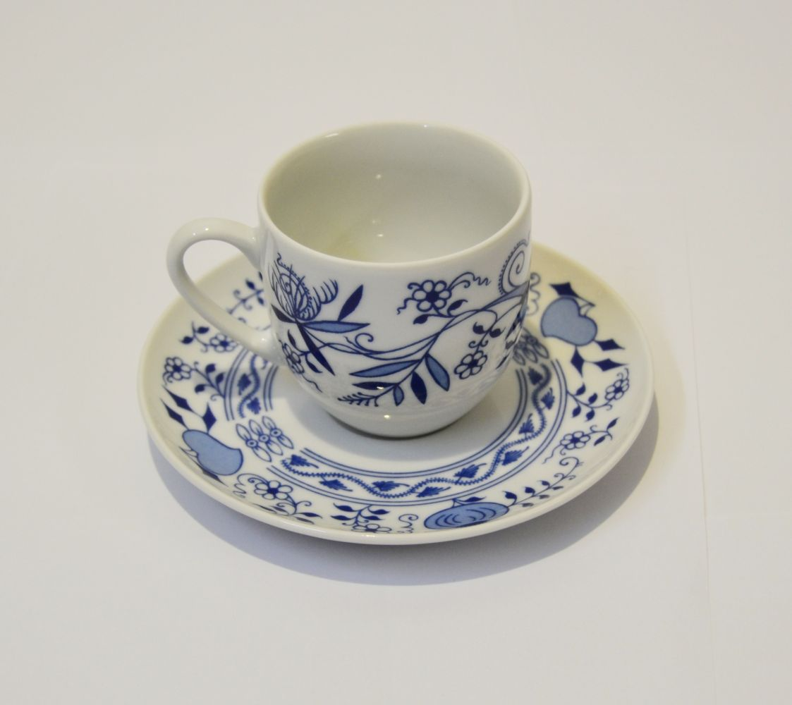 cibulák Henriette šálek a podšálek 115 kávový henrieta Saphyr Thun 1 ks cibulákový porcelán Nová Role