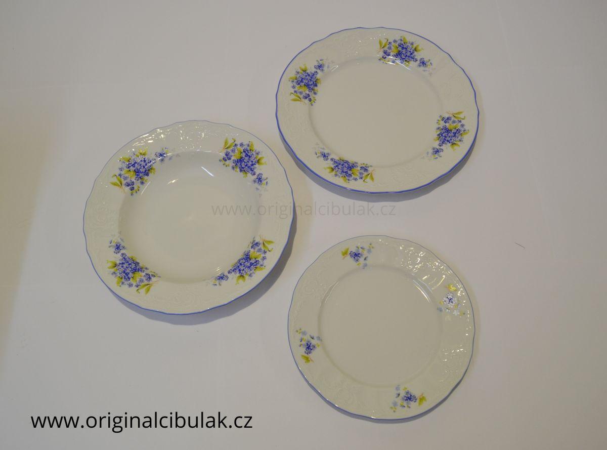 talíř hluboký 23cm Pomněnky Bernadotte porcelán Thun český porcelán Nová Role