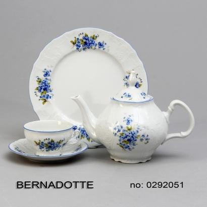 talíř dezertní 19cm Pomněnky Bernadotte porcelán Thun český porcelán Nová Role