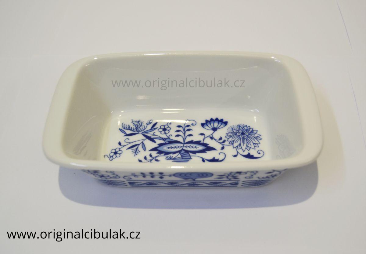 mísa zapékací obdélník 17 cm cibulák Henriette henrieta Saphyr Thun 1 ks cibulákový porcelán Nová Role