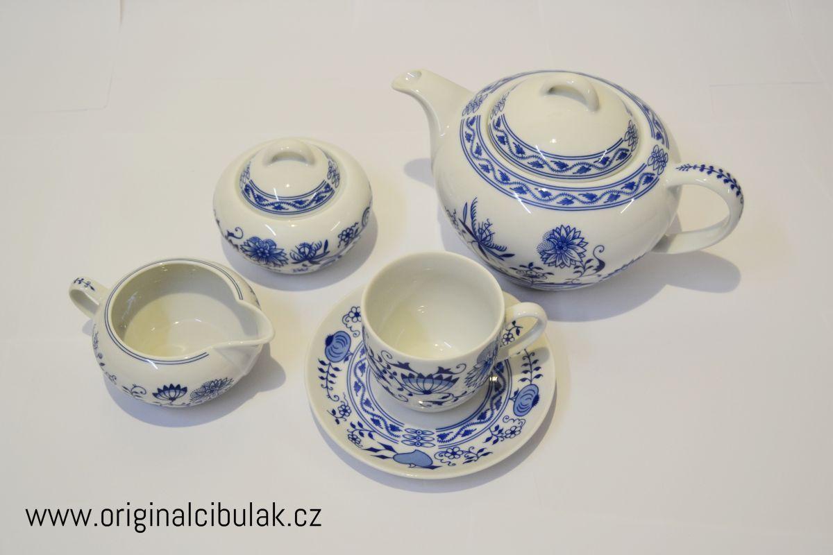 cibulák Henriette konvice čajová 1,2 L henrieta Saphyr Thun 1 ks cibulákový porcelán Nová Role