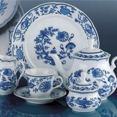 cibulák konvice čajová Natalie Thun 1,20 L 1 ks cibulákový porcelán Nová Role