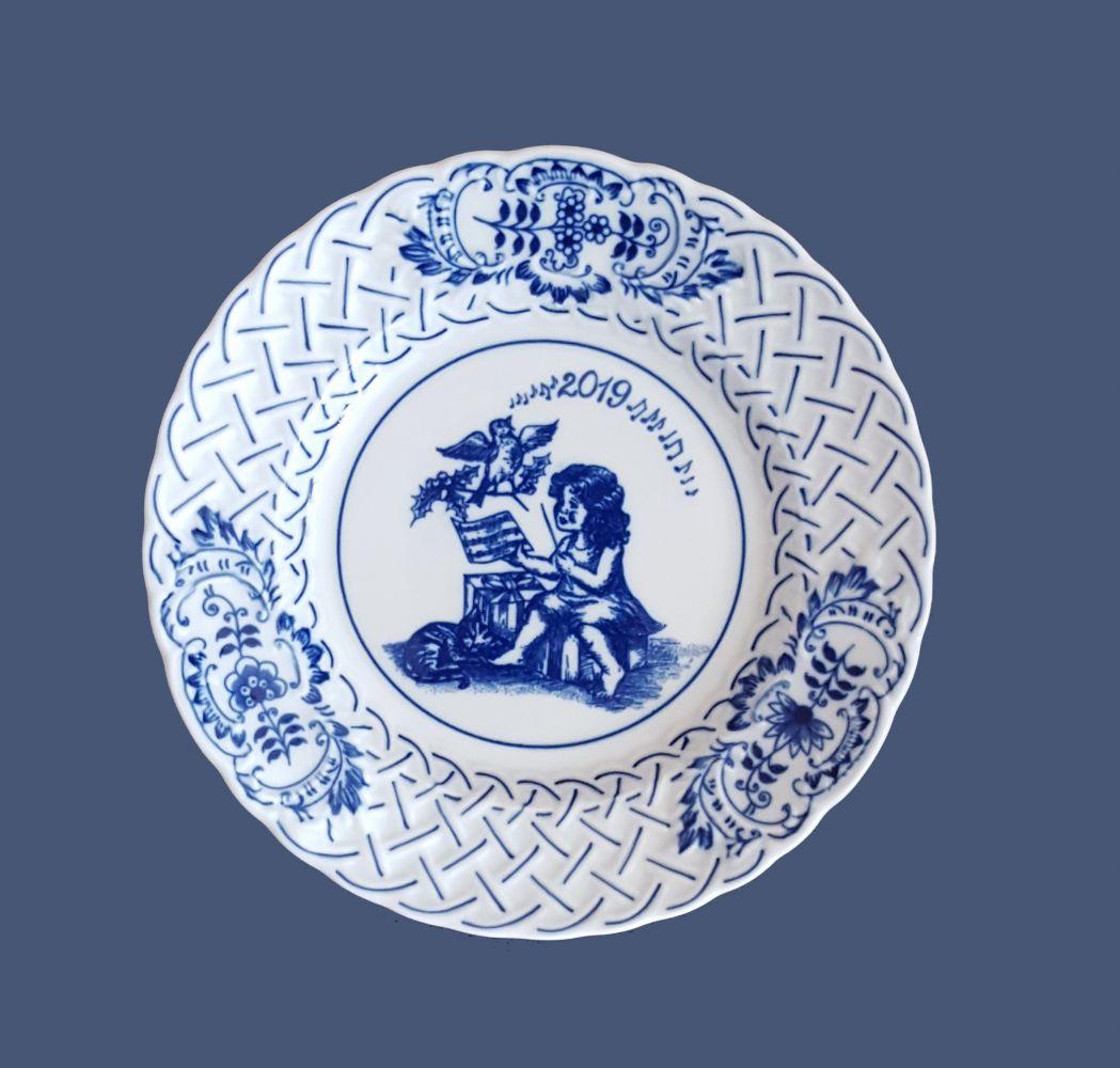 talíř výroční 2019 18 cm cibulák český porcelán Dubí
