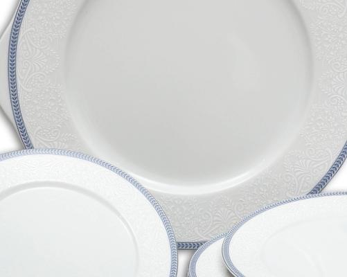 kompotová souprava Opál krajka modrá Thun 7 dílů český porcelán