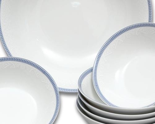 talíř dezertní 19 cm Opál krajka modrá Thun 1 ks český porcelán
