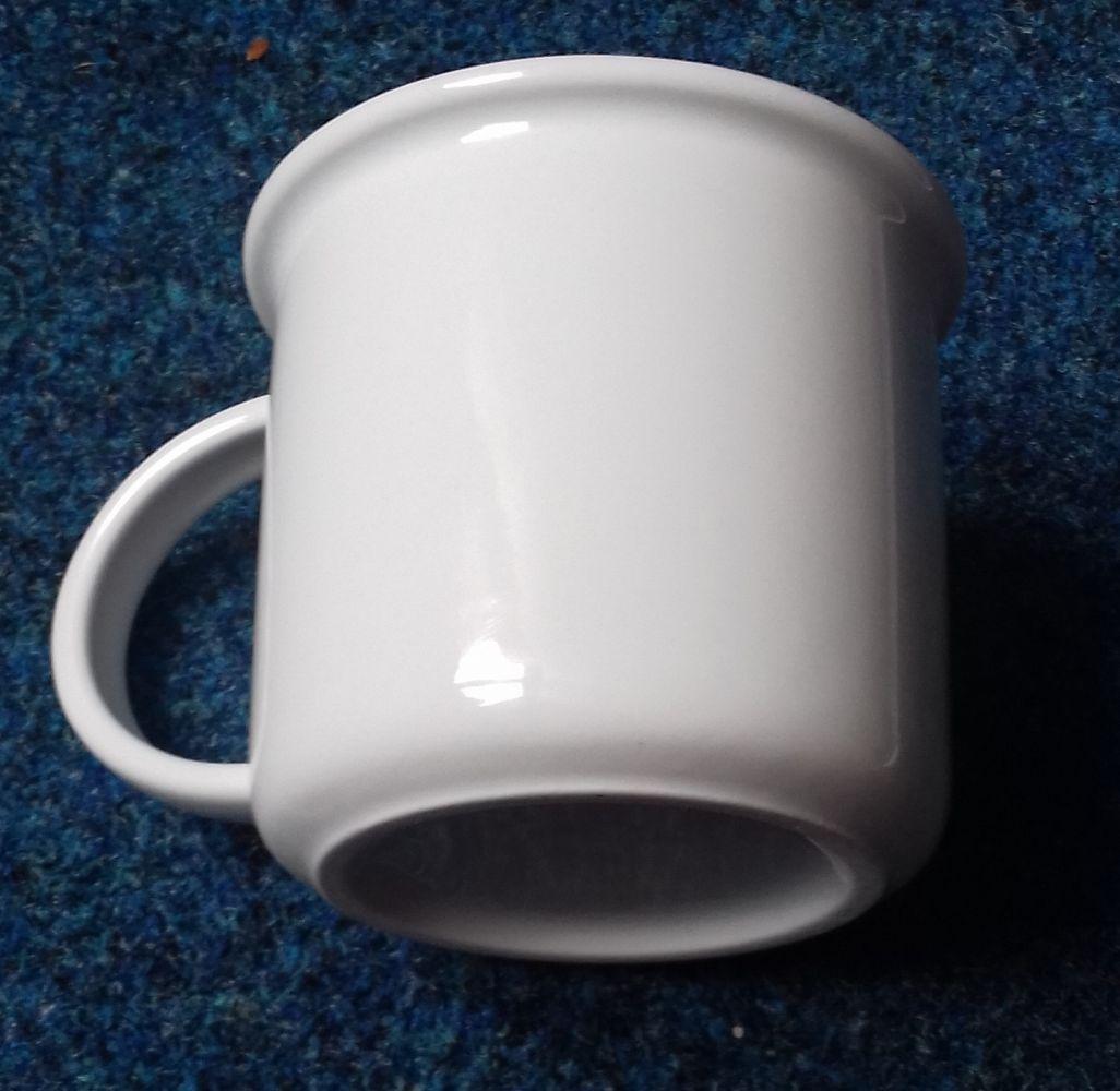 hrnek Tina 0,38 l bílý český porcelán Dubí