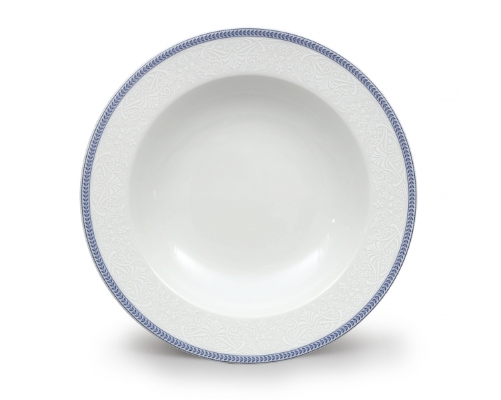 mísa oválná Opál 22 cm krajka modrá Thun 1 ks český porcelán