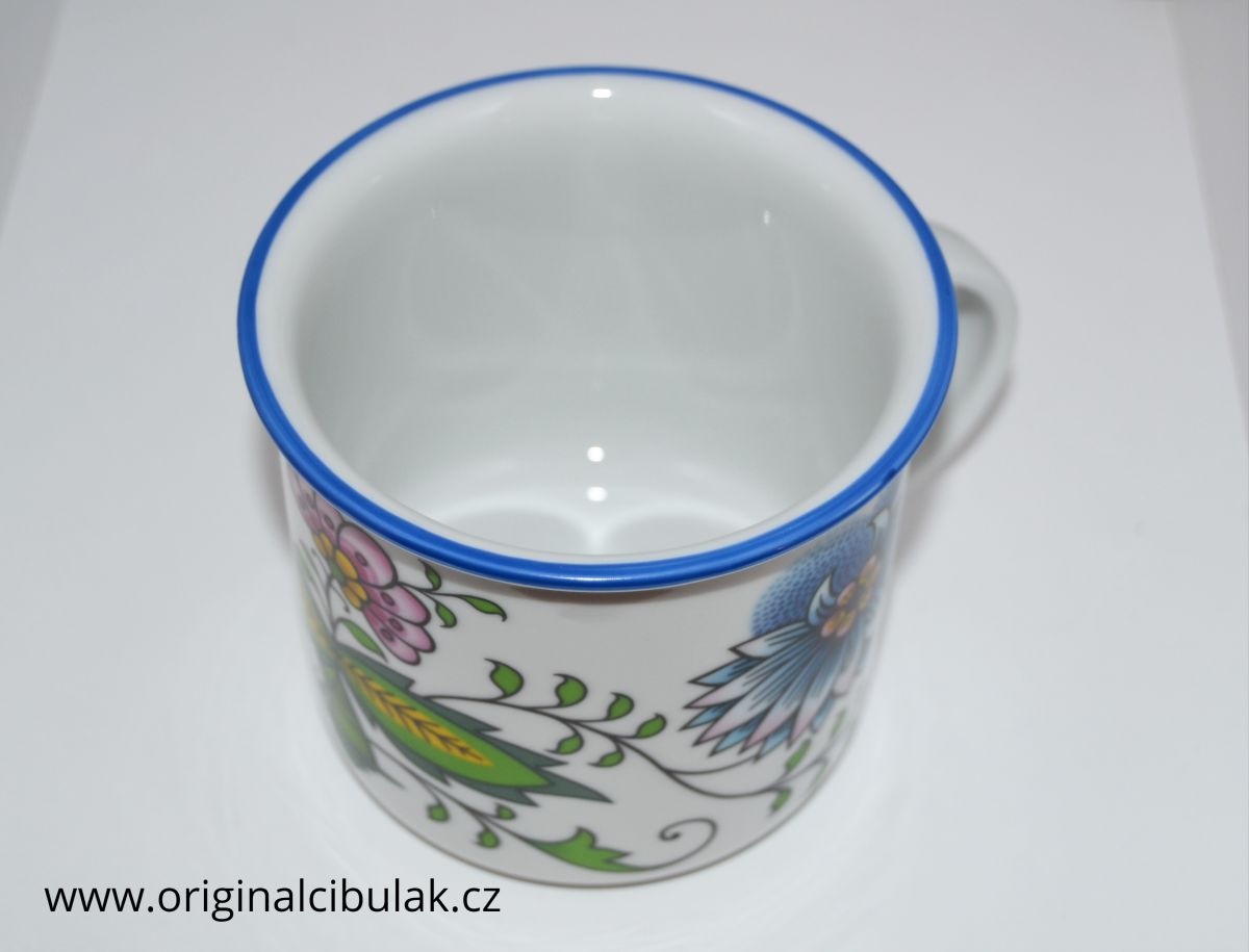 Hrnek Tina 0,38 l NATURE cibulák barevný český porcelán Dubí