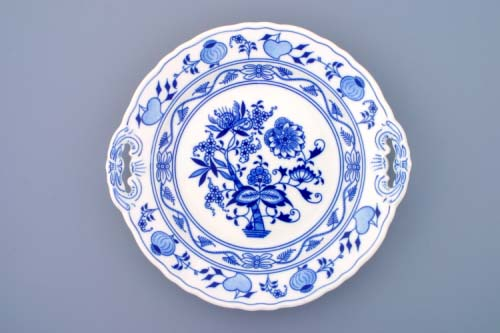 talíř cibulák koláčový s uchy 28 cm originální český porcelán Dubí 2.jakost