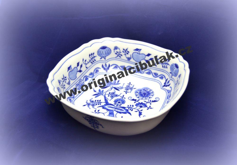 mísa cibulák čtyřhranná italská 21 cm originální český porcelán Dubí