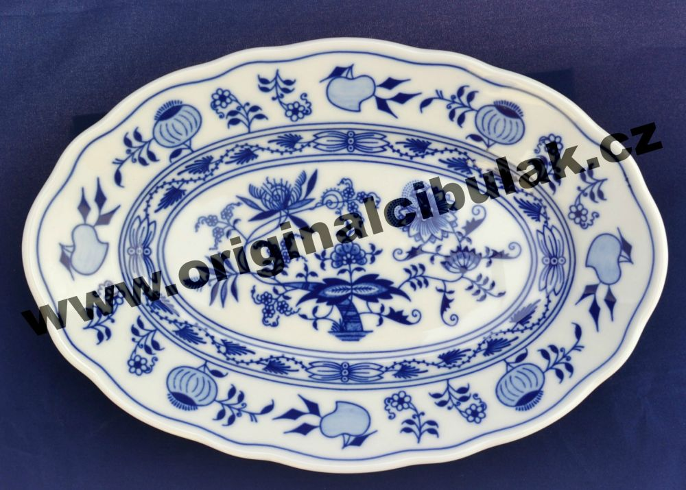 mísa cibulák oválná 24 cm originální český porcelán Dubí