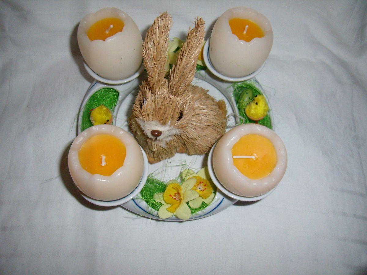 svícen adventní bílý český porcelán Dubí 4 svíčky