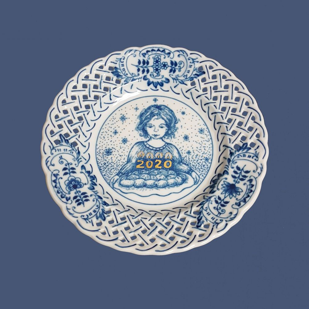 Výroční talíř 2020 cibulák 18 cm originální český porcelán Dubí
