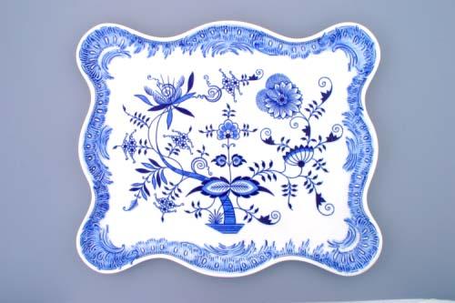 cibulák podnos ozdobný 45 cm, originální český porcelán Dubí