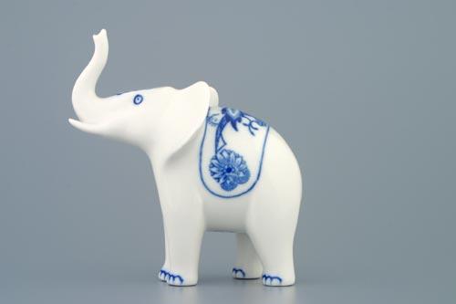 cibulák slon reklamní 12 cm originální český porcelán Dubí