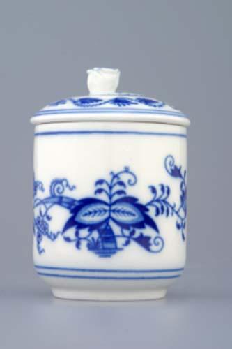 cibulák hořčičník s víčkem bez výřezu 0,10 l originální český porcelán Dubí 2.jakost