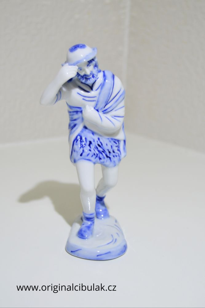 cibulák pocestný 17 cm originální český porcelán Dubí Royal Dux Bohemia