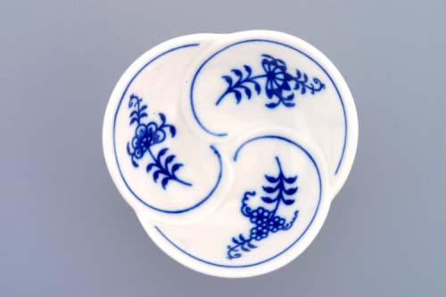 Cibulák miska trojlístek 7cm originální český porcelán Dubí