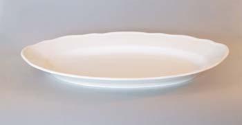 Mísa bílá oválná 35 cm Český porcelán Dubí