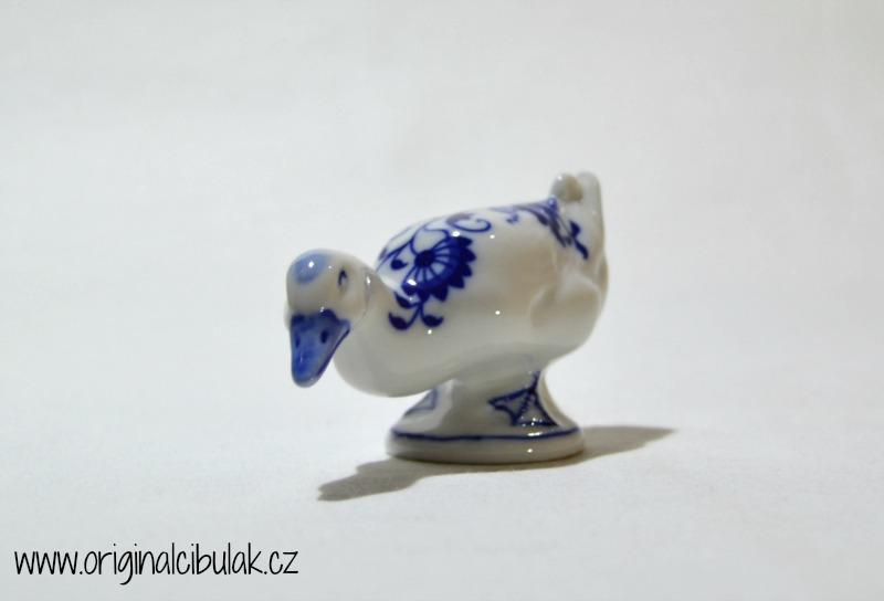 cibulák Kachna 9,5 cm originální český porcelán Dubí Dux 2.jakost