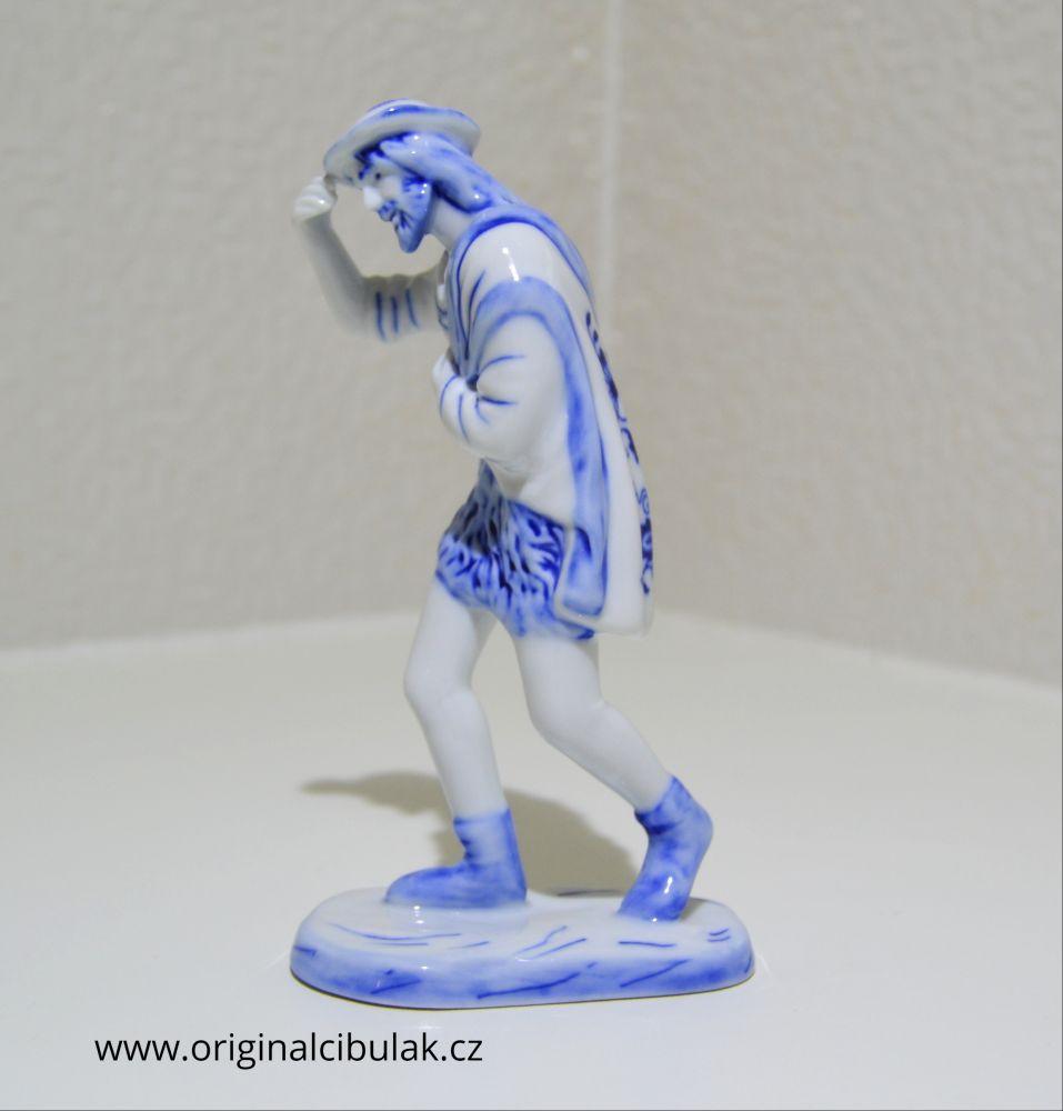 cibulák pocestný 17 cm originální český porcelán Dubí Royal Dux