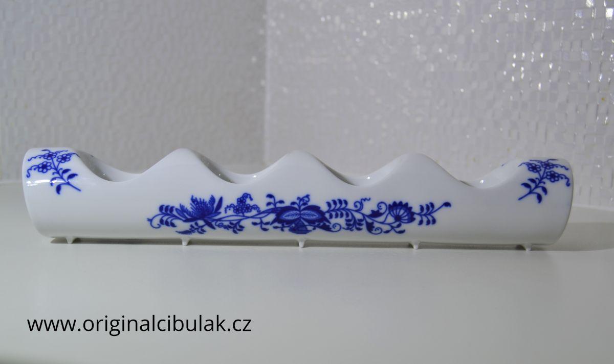 svícen cibulák 4 svíčky adventní rovný český porcelán Dubí