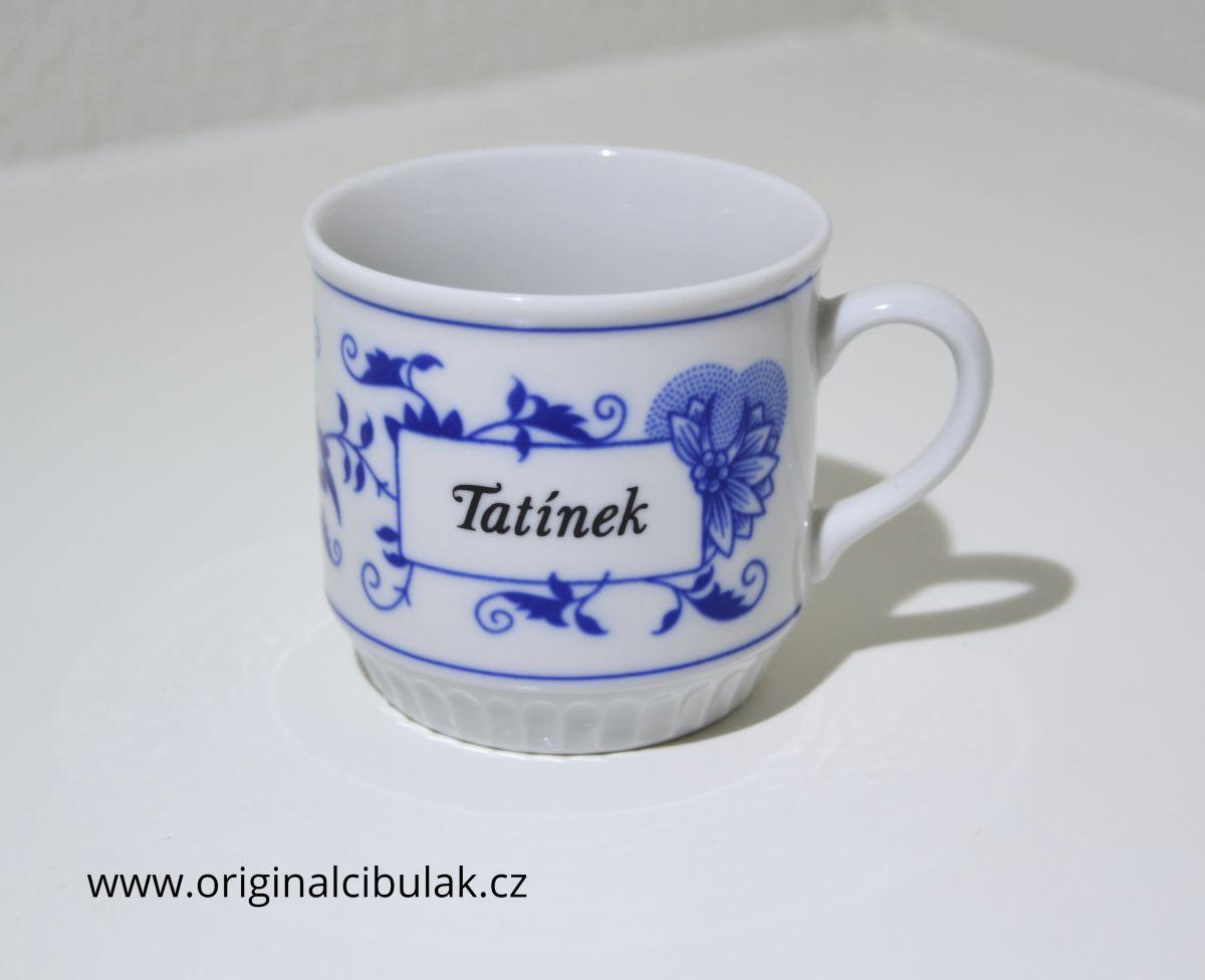 hrnek cibulák Leo s nápisem Tatínek český porcelán Dubí 2.jak