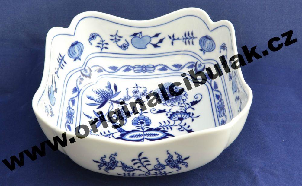 cibulák mísa salátová čtyřhranná vysoká 18 cm český porcelán Dubí 2.jakost