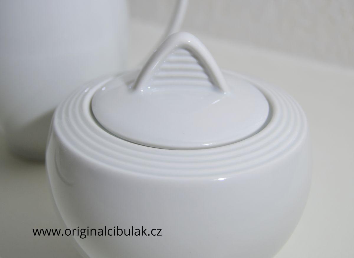 čajová souprava Lea bílý porcelán Thun 15 dílů český porcelán Nová Role