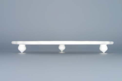 cibulák podnos oválový na třech nožkách 24,5 cm originální český porcelán Dubí 2.jakost