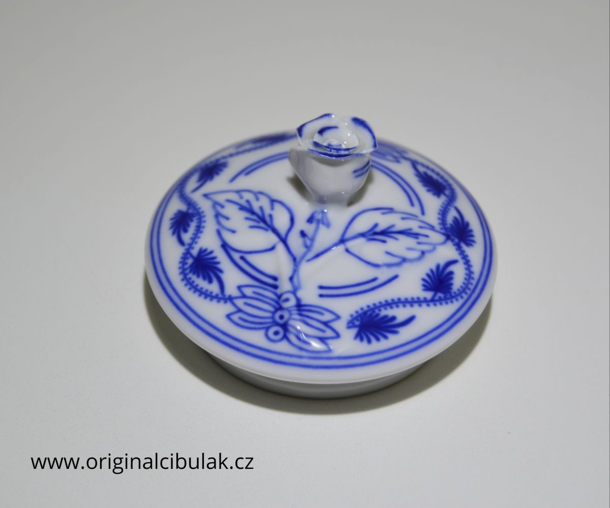 Víčko k cibulákové konvici na čaj český porcelán Dubí