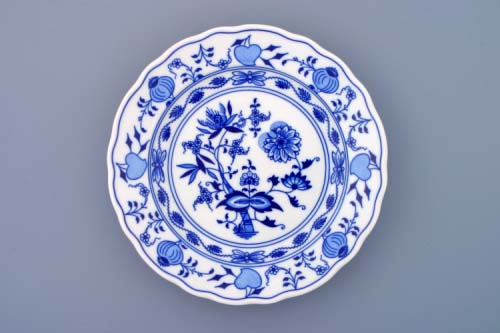 Talíř cibulák mělký 21cm český porcelán Dubí 2.jakost