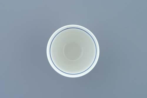 Cibulák kalíšek na nožce 8 cm originální cibulákový porcelán Dubí 2.jakost