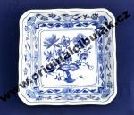 Cibulák mísa salátová čtyřhranná 18 cm originální cibulákový porcelán Dubí, cibulový vzor,