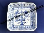 Cibulák mísa salátová čtyřhranná 24 cm originální cibulákový porcelán Dubí, cibulový vzor,