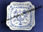 Cibulák mísa salátová čtyřhranná vysoká 18 cm originální cibulákový porcelán Dubí, cibulový vzor, 1.jakost