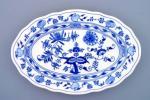 Cibulák mísa oválná 39 cm originální cibulákový porcelán Dubí, cibulový vzor,