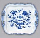 Cibulák Podnos Aida čtvercový 34 cm originální cibulákový porcelán Dubí, cibulový vzor 1. jakost