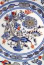 Cukřenka s oušky s víčkem bez výřezu 0,30 l originální cibulák zlacený s dekorací rubín, cibulový porcelán Dubí