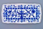 Cibulák podnos čtyřhranný 33 cm originální cibulákový porcelán Dubí, cibulový vzor