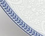 etažér Opál krajka modrá Thun český porcelán